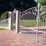 cancello carraio e portoncino in ferro battuto zincato a caldo (2)
